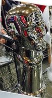 Голова-бюст мужской глянцевый, серебро
