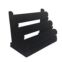 Подставка под браслеты трех-ярусная, черный бархат