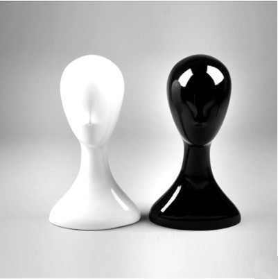 Голова-бюст женский глянцевый, черный