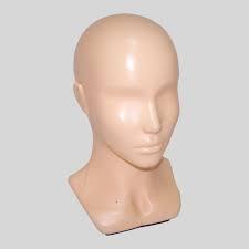 Голова-бюст женский глянцевый, бежевый