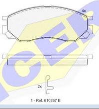 Тормозные колодки ICER 141234(REMSA 583.00)