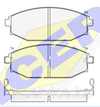 Тормозные колодки ICER 141272(REMSA 734.02)