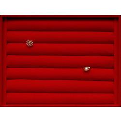 Планшет-валики под серьги, бордо, 250*250*30 мм
