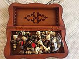 Шахматы-нарды из натуральной кожи 3 в 1, фото 3