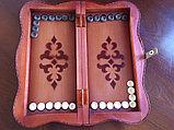 Шахматы-нарды из натуральной кожи 3 в 1, фото 5