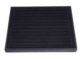 Планшет-валики под серьги, черный, 250*250*30 мм