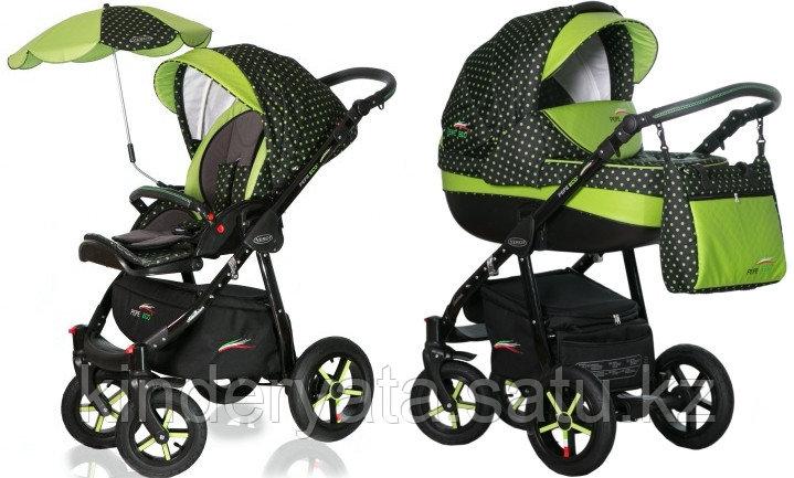 Детская коляска 3 в 1 Pepe Eco plus 4 Verdi