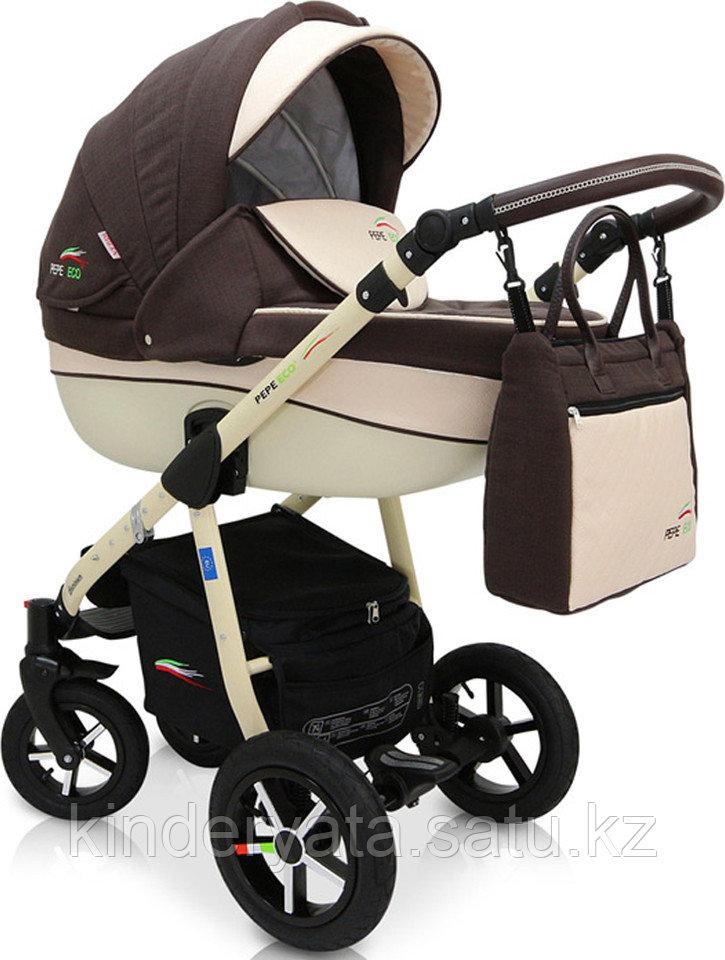 Детская коляска 3 в 1 Pepe Eco plus 36 Verdi
