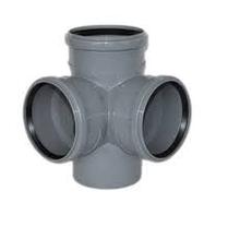 Крестовина двухплоскостная канализационная 110х110х110/90 ПП