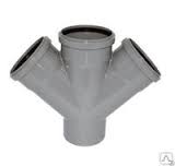 Крестовина одноплоскостная канализационная 110х110х110/45 ПП