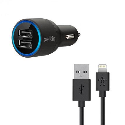 Автомобильное зарядное устройство BELKIN Dual USB Lightning, фото 2