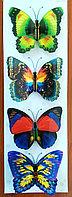 """Набор наклеек """"Бабочки"""" 3D, цветные, 4шт., фото 1"""