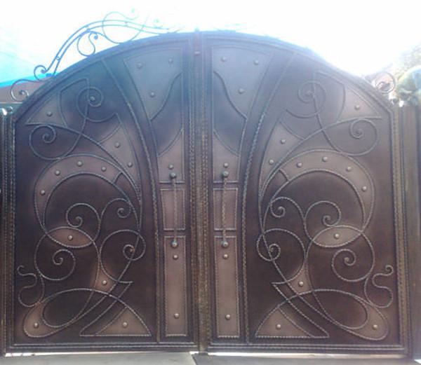 Изготовление металлических ворот для гаража