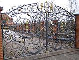 Кованые ворота аркой, фото 2