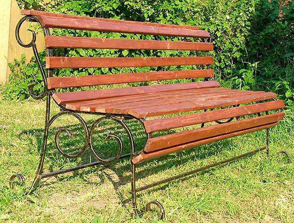 Железные скамейки столы