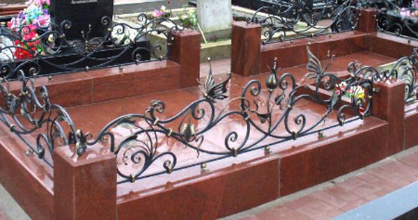 Стандартные оградки на могилу