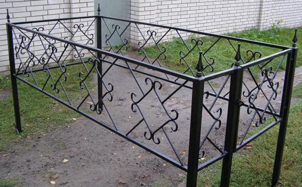 Кованые ограды установка