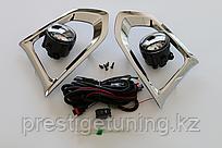 Противотуманки с хромированными вставками на Nissan Patrol Y62 2010-15
