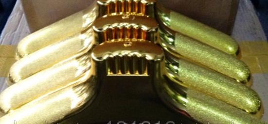 Плечики каучуковые (золото) большие, 450 мм