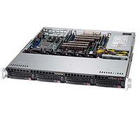 Сервер Rack 1U, 1xXeon E3-1200 v5/v6, 4xDDR4 UDIMM 2400, 4x3.5HDD, RAID 0,1,10,5, 2xGLAN, 500W