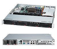 Сервер Rack 1U, 2xXeon E5-2600 v3/v4, 8xDDR4 LRDIMM 2400, 4x3.5HDD, RAID 0,1,10,5, 2xGLAN, 2x400W
