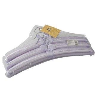 Плечики атласные фиолетовые