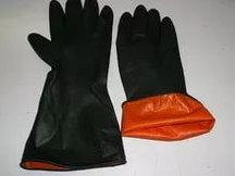 Перчатки резиновые черные