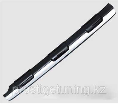Накладка с хромом на задний бампер TLC Prado 150 2014-17
