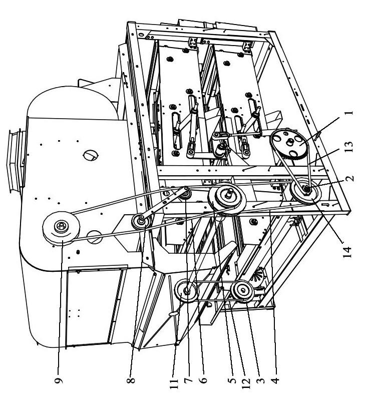 Схема расположения звездочек,роликов,шкивов,ремней и цепей