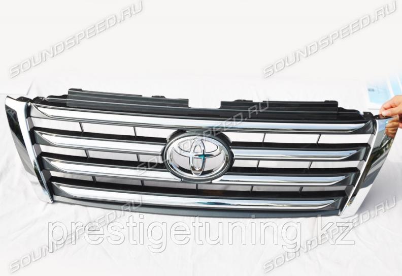 Решетка радиатора на Land Cruiser Prado 150 2014-2017 LX-Mode темно-серая
