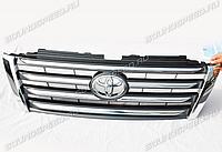 Решетка радиатора на Land Cruiser Prado 150 2014-2017 LX-Mode темно-серая, фото 1