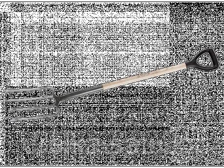Вилы садовые ЗУБР 4-39562, МАСТЕР, ФАВОРИТ, деревянный черенок из ясеня, пластиковая рукоятка, 280x180x120 мм., фото 2