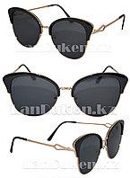 Солнцезащитные очки женские Бабочка (черные)