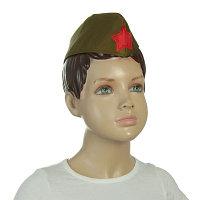 Пилотка военного, детская в ассортименте