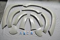 Расширители арок на Land Cruiser Prado 150 2014-17 Белый жемчуг