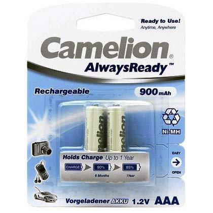 Аккумулятор, CAMELION, NH-AAA900ARBP2, фото 2