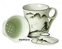 Кружка для заваривания чая с керамическим ситечком, 300мл