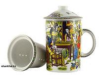 Чашка заварочная с керамическим ситечком Китаянка,320 мл, фото 1