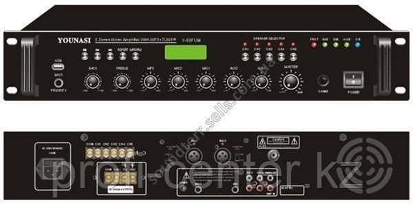 SRI-60U 60вт 5-ти зональный USB микширующий усилитель