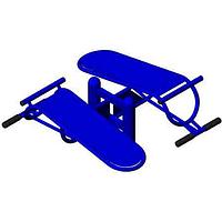 Уличный тренажер универсальный, для мышц пресса, ног, рук, спины