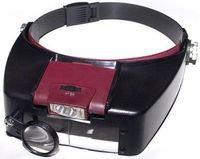 Лупа налобная с подсветкой  MG81007-A1