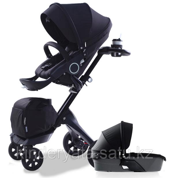 Детская коляска Dsland 2 в 1 V6 Black