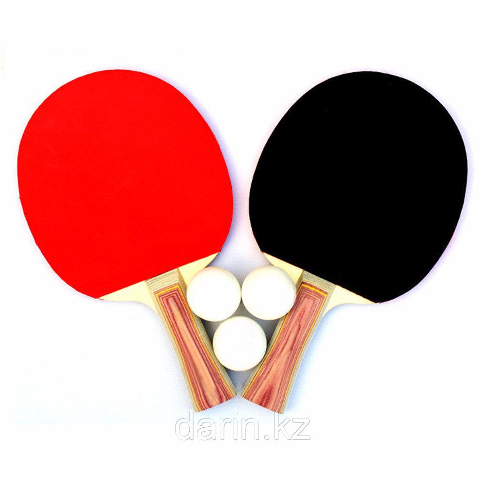 Теннис настольный в наборе: 2 ракетки и 3 мяча