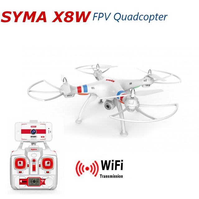 Квадрокоптер с видеотрансляцией SYMA-X8W