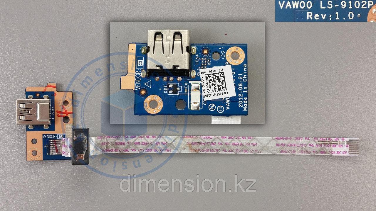 USB плата, порт, разъем VAWOO LS-9102P Rev. 1.0 DELL Inspiron 3521