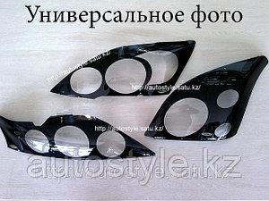 Защита фар Mitsubishi L200 2007+ (очки в черный кантик) Airplex