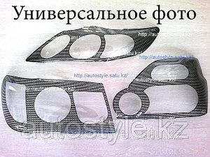 Защита фар Nissan Maxima A32 (очки карбон.кант) AirPlex
