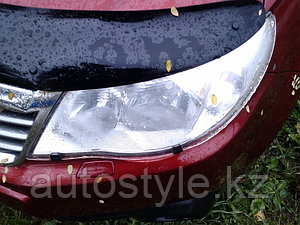 Защита фар Subaru Forester 2008-12 (очки прозрачные) SIM