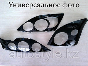 Защита фар Toyota 4-Runner / Hilux Surf 2003 -2005 N215 (очки кант черный)