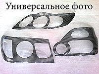 Защита фар Toyota Camry-45 2009-11 (очки, кантик карбоновый) Airplex